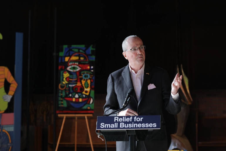 Murphy signed a small business relief measure to help arts organizations on April 8, 2021..png