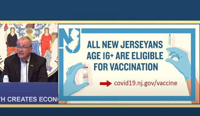 New Jersey Opens Vaccinations to Residents Ages 16+