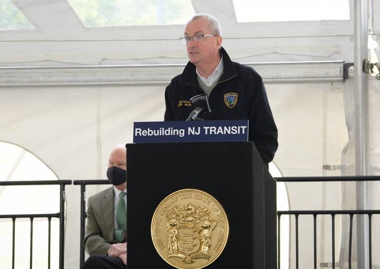 Gov. Phil Murphy addresses the new class of NJ TRANSIT engineers.