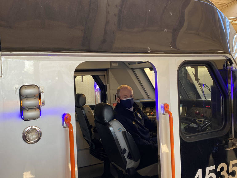Gov. Murphy Welcomes Newark Penn Station's First Dual-Powered Locomotive