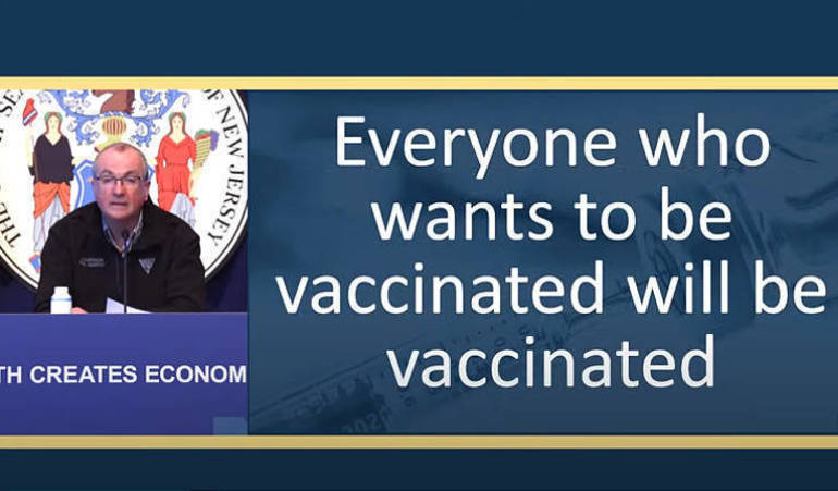 Murphy Assures New Jersey: 'Everyone Who Wants to Be Vaccinated Will Be Vaccinated'
