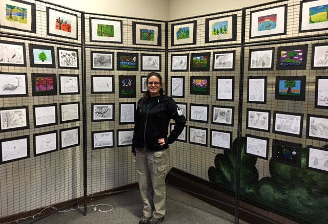 Bedwell School student artists from the Somerset Hills