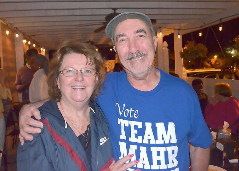 Nancy Yeowaisis (Colleen Mahr's mother) and John Celardo, who won Fanwood's District 5 male seat.