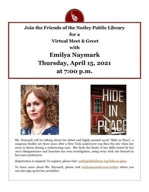 Virtual Book Talk with Author Emilya Naymark