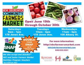 New Brunswick Community Farmers Market Opens for the Season This Saturday