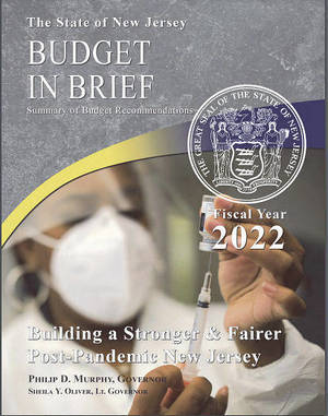 NJ Fiscal Year 2022 Budget proposed by Gov. Murphy.