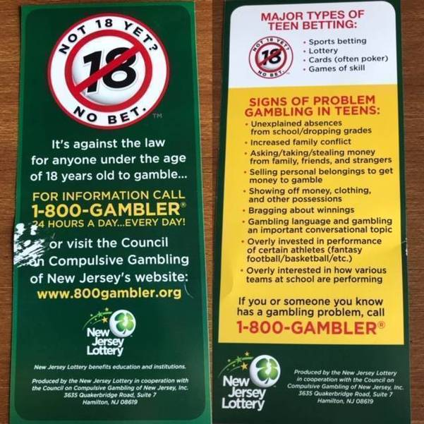 NJ Lottery Kicks off 'Not 18 Yet? No Bet
