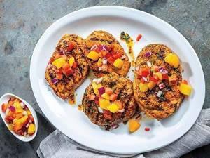 Summer Grilling Recipe: Grilled Blackened Pork Chop with Peach-Mango Salsa