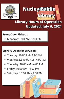 Nutley Public Library Hours of Operation