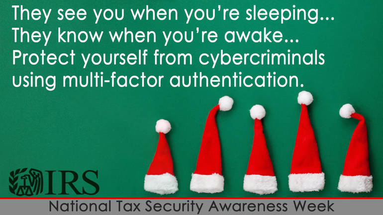 IRS National Tax Security Awareness Week: 2021 online tax preparation products to offer multi-factor authentication