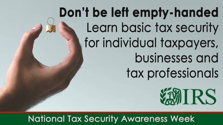Fifth Annual National Tax Security Awareness Week urges increased security measures as fraudsters exploit COVID-19 concerns
