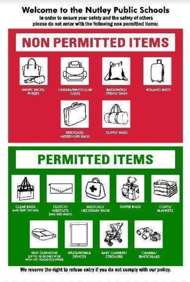 Nutley Public Schools Permitted Items.JPG