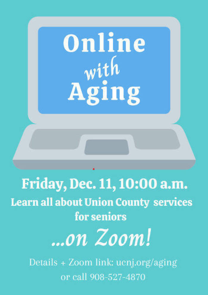 """Join """"Online with Aging"""" and Learn about Programs and Services for Seniors in Union County"""
