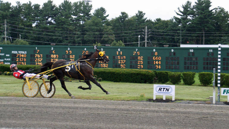 Foiled Again Stars At The Open Space Pace At Freehold Raceway: Middletown North Marching Band Participated