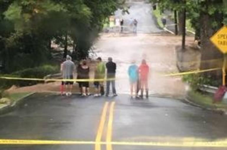 WATCH:  Saturday Rains Flood Bloomfield Ave (Caldwell Area)