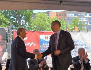 Gov. Murphy, Other Officials Help Break Ground on Cancer Hospital in New Brunswick