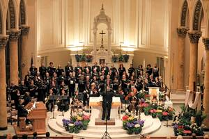 Oratorio Society of NJ performing choral music at Immaculate Conception Church of Montclair