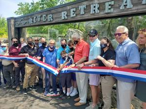 Ribbon Cutting Ceremony for New Otter Exhibit at Essex County Turtle Back Zoo