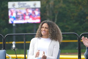 Union Catholic celebrated the achievements of its most famous alumna, two-time Olympic gold medalist Sydney McLaughlin