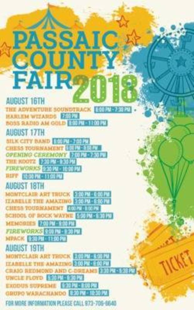 Passaic County Fair Continues Through Sunday at Garret Mountain Reservation