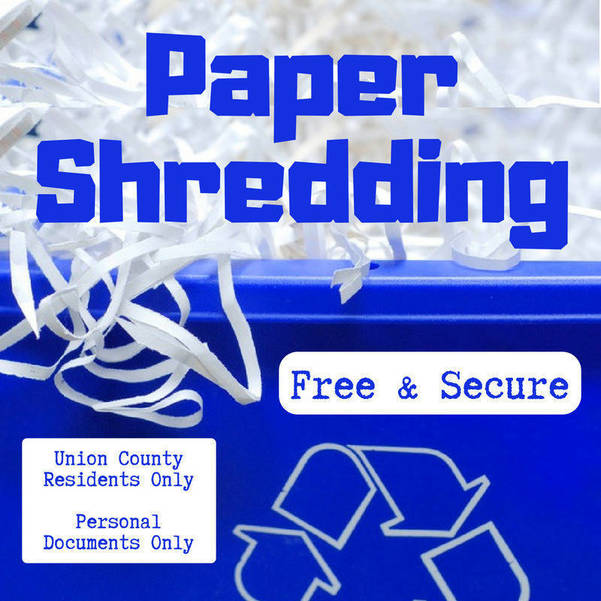 Union County Holds Free Document-Shredding Event on May 15