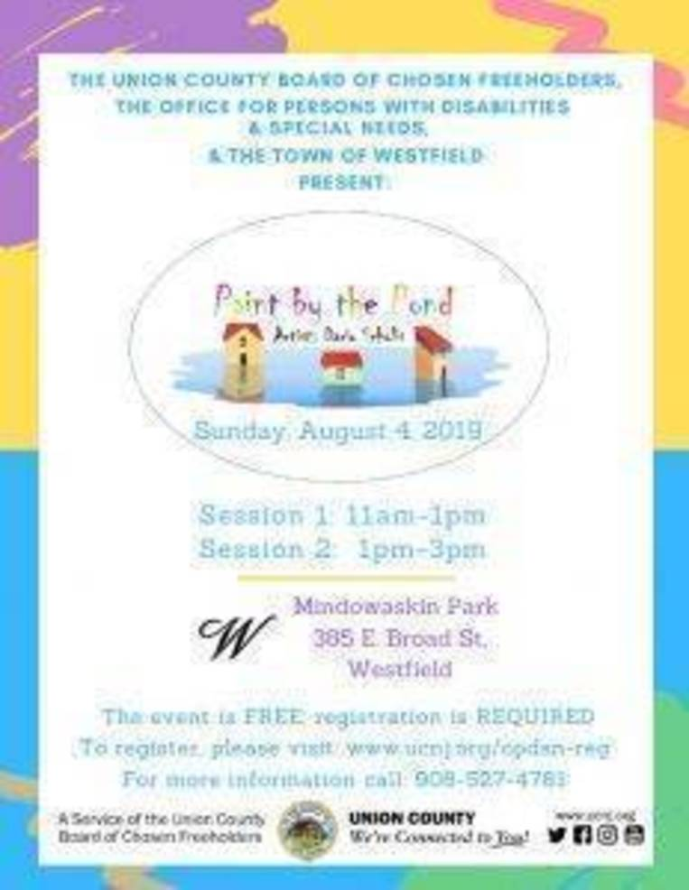 """Freeholder Board to Sponsor """"Paint by the Pond"""" for Special Needs"""