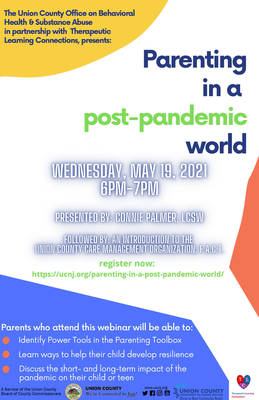 Union County to Host Free Webinar: Parenting in a Post-Pandemic World, May 19