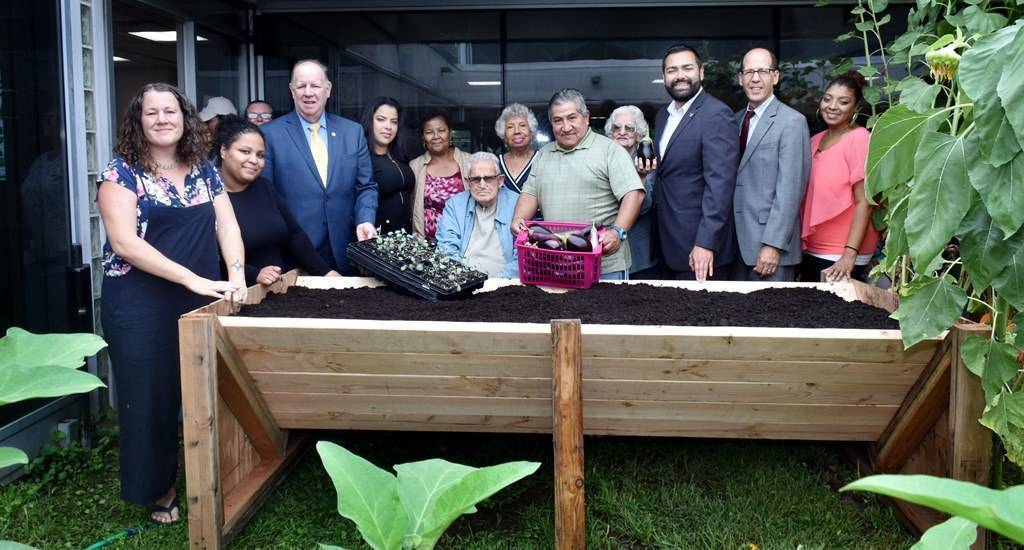 """Community Gardeners Launch Fall Planting Season in Union County with Unique """"Senior Bed"""""""