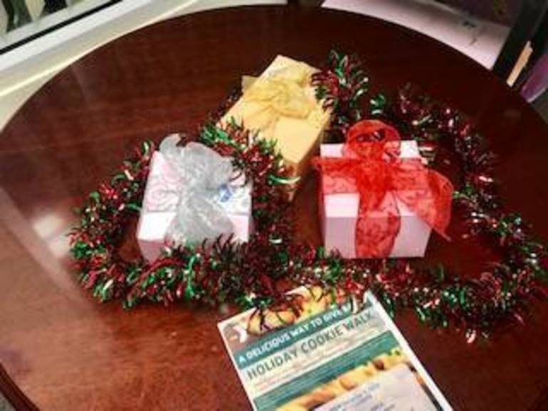 Photo - cookie boxes wrapped with flyer.jpg