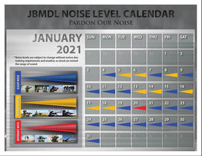 What's that Booming? JBMDL Releases 'Pardon Our Noise' January Noise Level Calendar