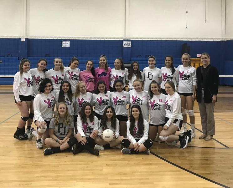 Pope John Breast Girls Volleyball Team Breast Health Donation, October 2019.jpeg