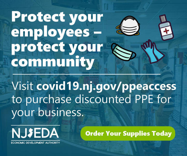 NJEDA Expands Discounts for Access to PPE Program to Support Small Businesses