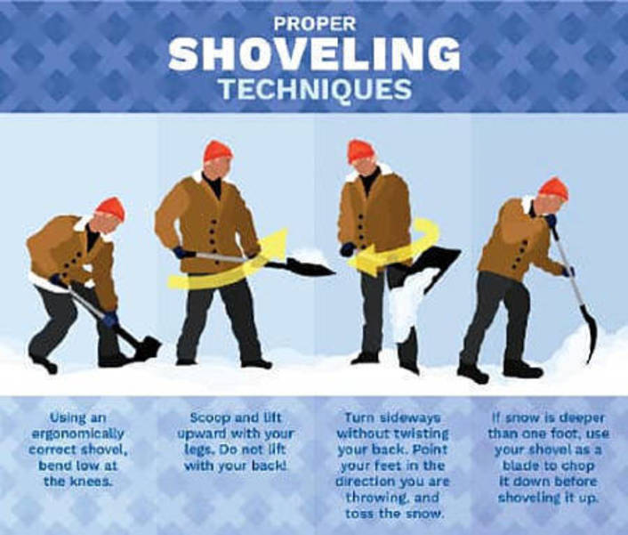 How to Shovel Snow: Tips from the National Safety Council