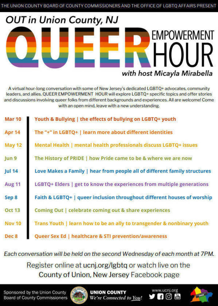 Union County Announces 2021 Queer Empowerment Hour Series