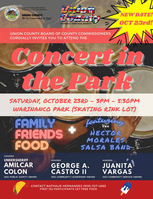Union County Free Concert in Warinanco Park Rescheduled for October 23