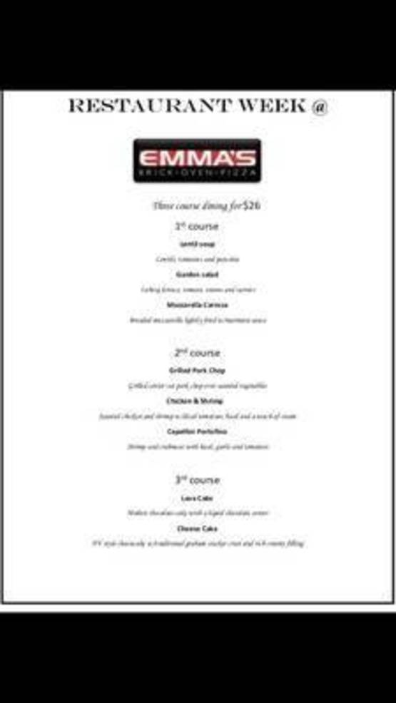 Stop By Emma's Brick Oven Before Restaurant Week Ends