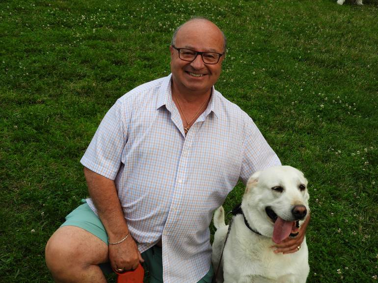 RED BANK MAYOR PAT MENNA WITH HIS RESCUE DOG LILLY.jpg