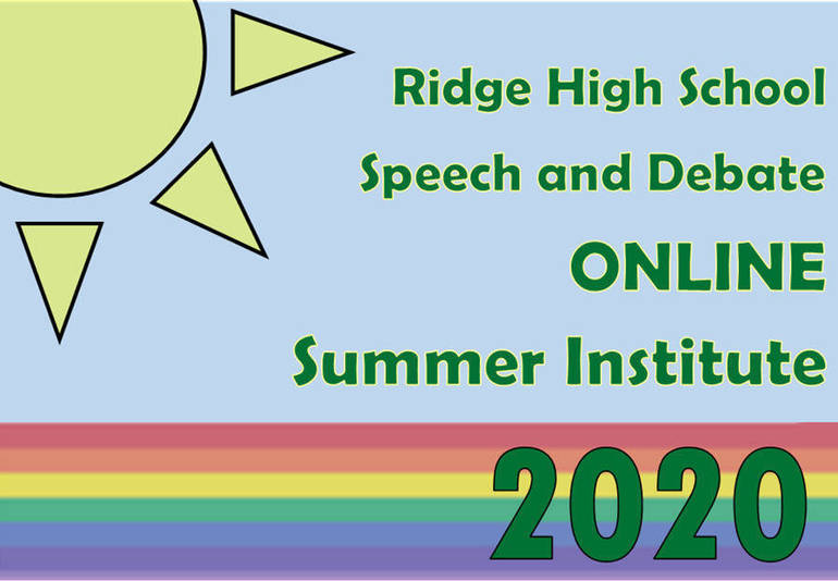 Ridge High School Speech and Debate Team Announce Online Summer Program