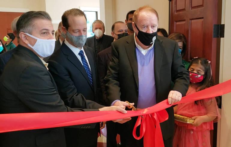 Livingston Council Members Help Cut Ribbon at New Hindu Temple in West Orange
