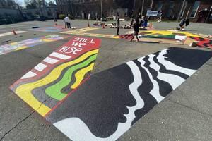 Newark Artists Bring Vision to Massive 'Black Lives Matter' Mural
