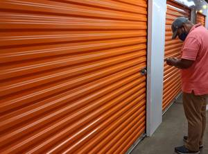 Richard Smith of Metro Media Institute was allowed to look at his belongings stored at Public Storage on Route 22 in Scotch Plains.