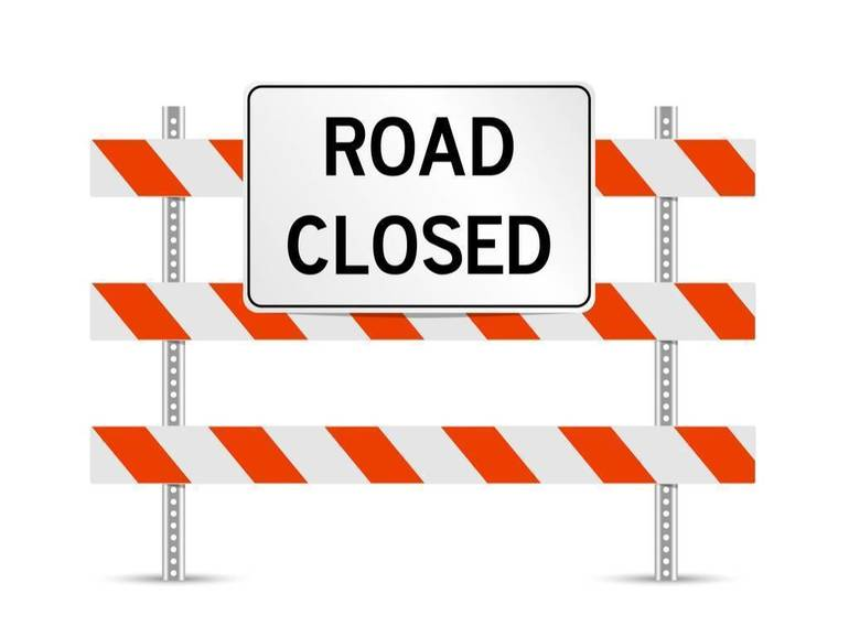 Hillcrest Road Closed in Watchung