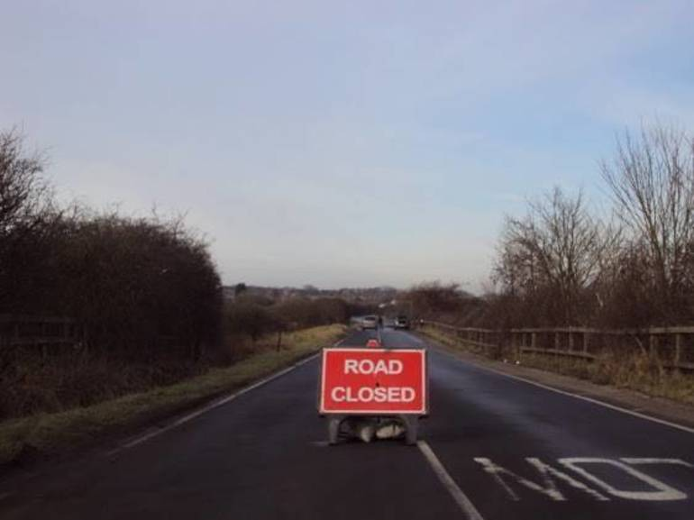 Road Closure from Downed Power Lines