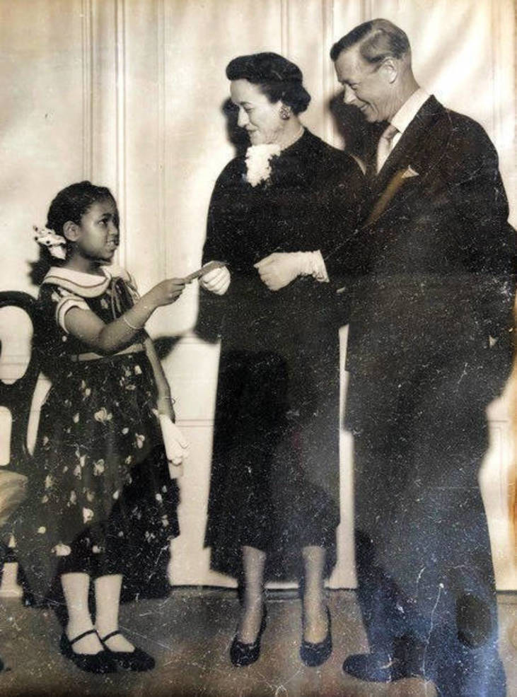 Robert Constant's mom with the Duke and Duchess of Windsor.
