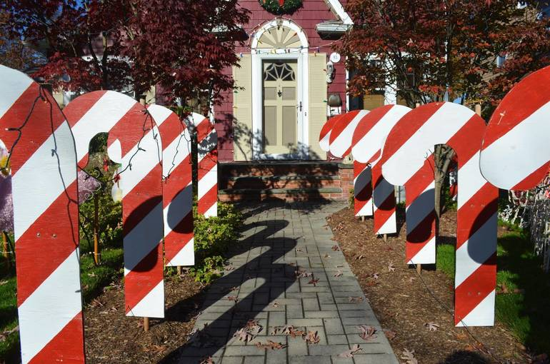 """""""Candy Cane Lane"""" leads to the home of Greg Roser in Fanwood."""