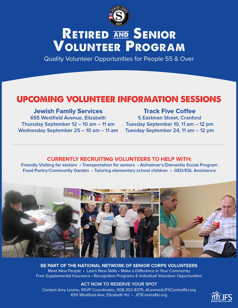 Retired Senior Volunteer Program of Central New Jersey - TAPinto