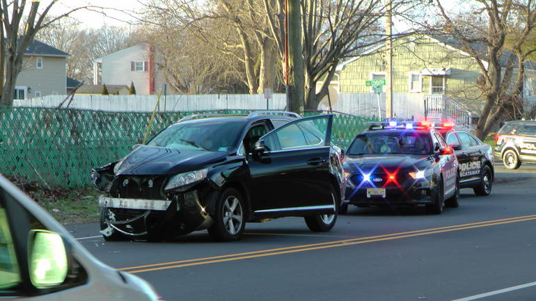 Three County Police Chase Ends in Crash in Piscataway; Four Arrested on Gun Charges