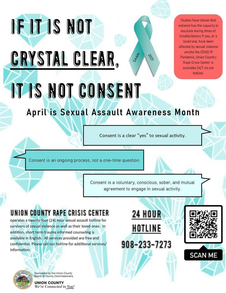 Union County Recognizes April as Sexual Assault Awareness Month