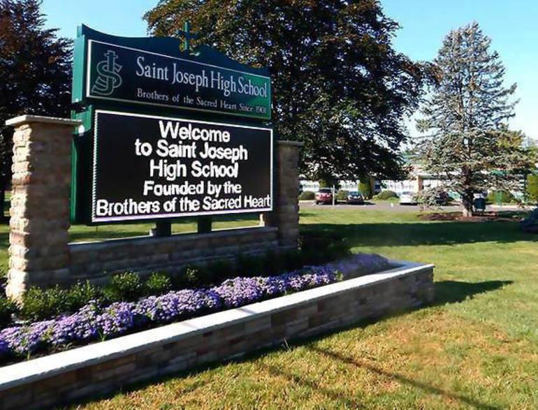 Saint Joseph High School exterior and sign.png