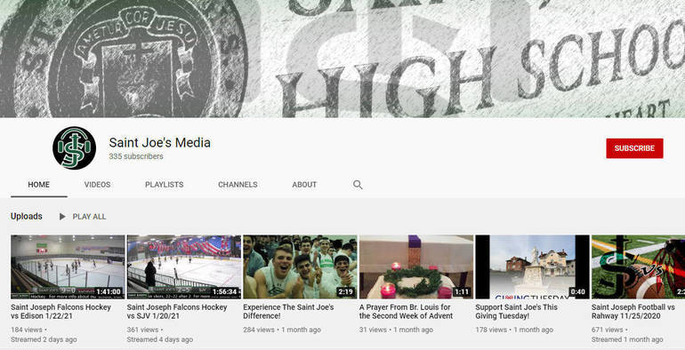 Saint Joe's YouTube livestream channel.png